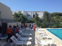 Members of the UIAA Medical Committee training Kalymnos Rescue Team at Hotel ELIES pool